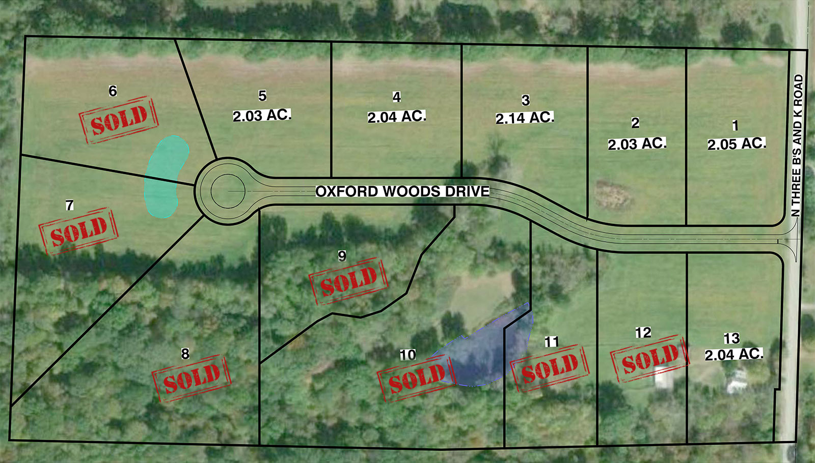 Oxford Woods Site Plan Map