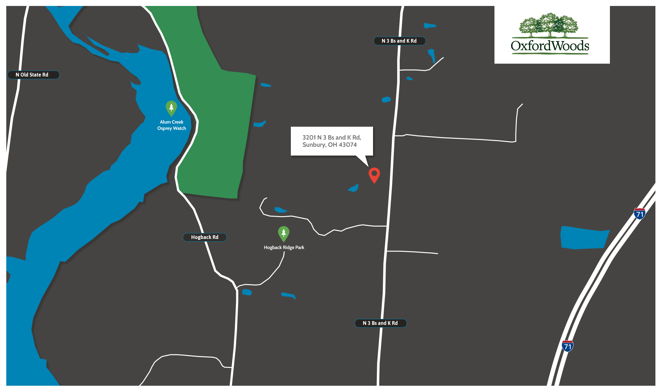 Oxford Woods Location Map